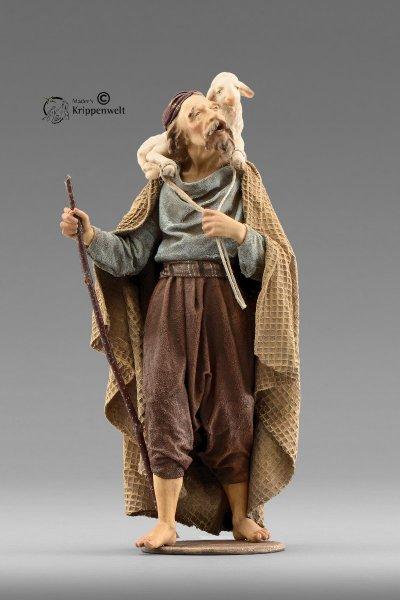 Hirte mit Lamm und Stock als Krippenfigur von der Immanuel Krippe