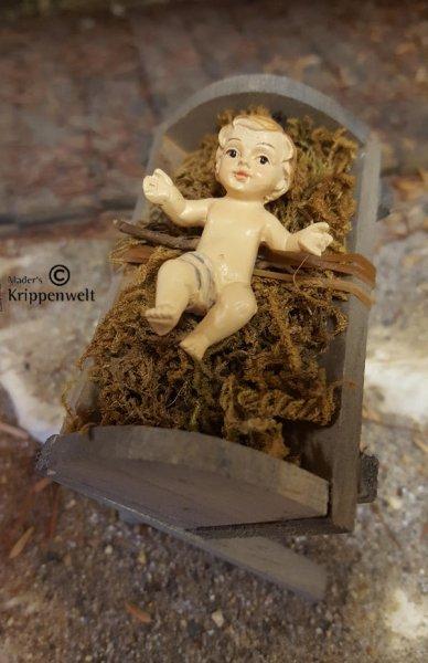 Jesuskind aus Polystone als Krippenfigur