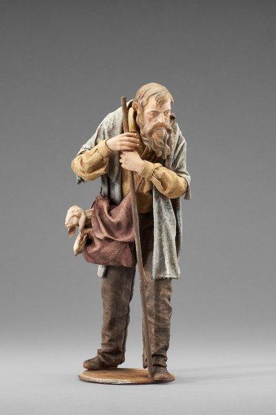 ein Hirte mit Eimer als Krippenfigur von der Rustika Krippe von Heide