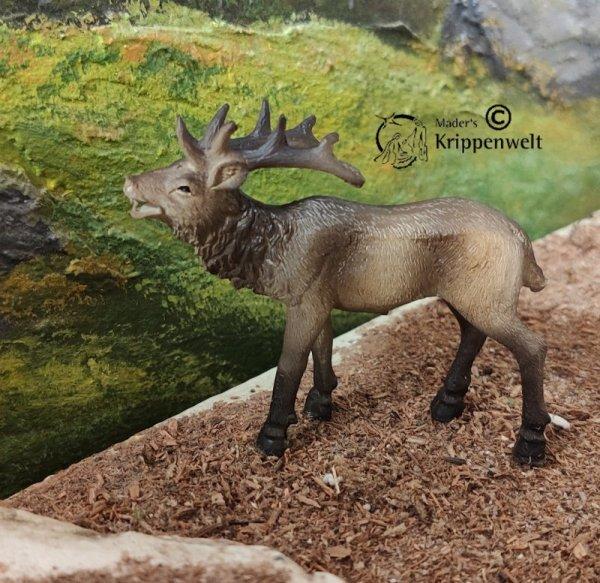 röhrender Hirsch als Krippenfigur