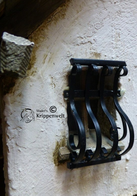 Krippenbaumaterial Fenstergitter