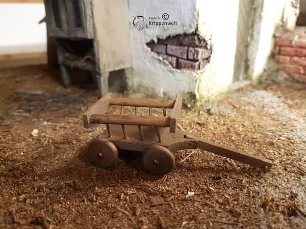 Karren - kleiner Leiterwagen gebeizt