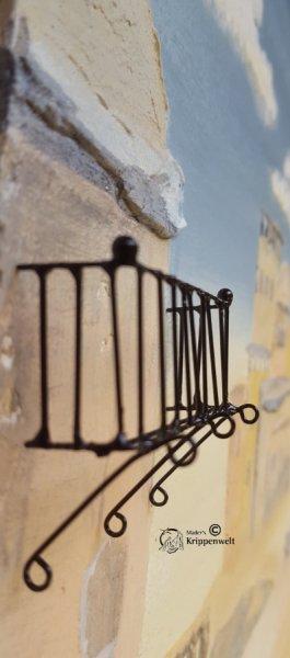 Gitter für als Balkongeländer für den Bau ihrer Weihnachtskrippe