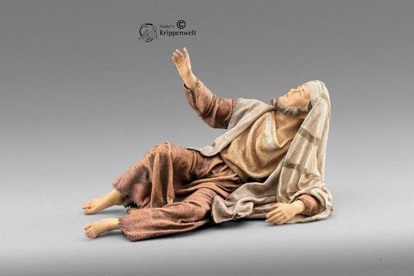 Hirte liegend als Krippenfigur von der Immanuel Krippe von Heide