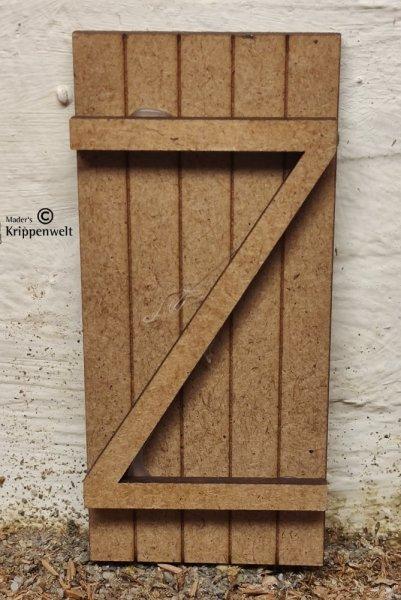 Holztüre als Krippenzubehör