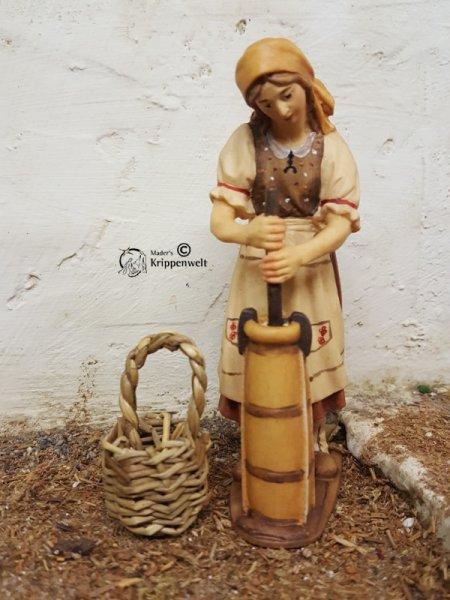 Korb Kiepe in 2 Größen geflochtener Holzkorb
