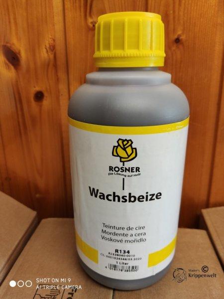 1 Liter Kunststoffflasche der Wachsbeize Rosner 134