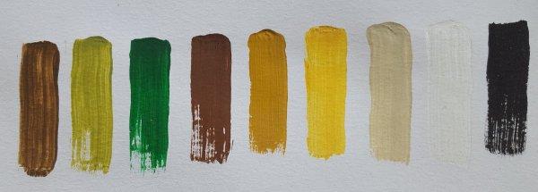Acrylfarbenset für eine heimatliche Weihnachtskrippe