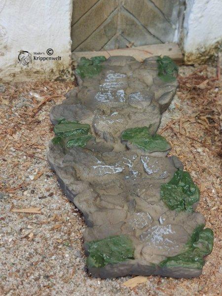 einzelne Wegplattenmodule für den Krippenbau