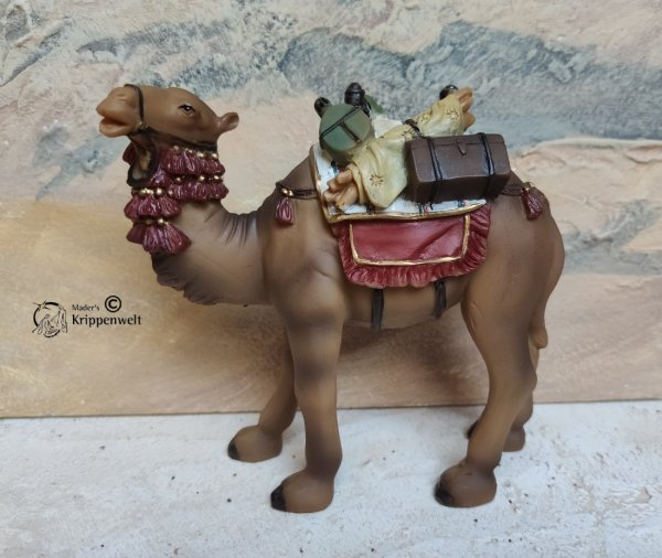 Krippenfiguren Tiere aus Kunstharz ein stehendes Kamel