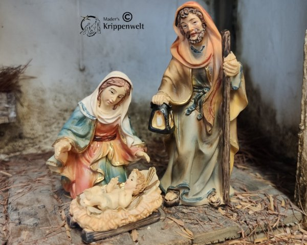 heilige Familie 4-teilig bemalt 9cm handbemalt