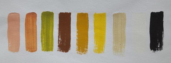 Acrylfarbenset für eine orientalische Weihnachtskrippe