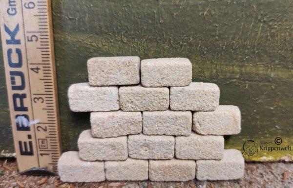 Sandsteinquader für den Krippenbau