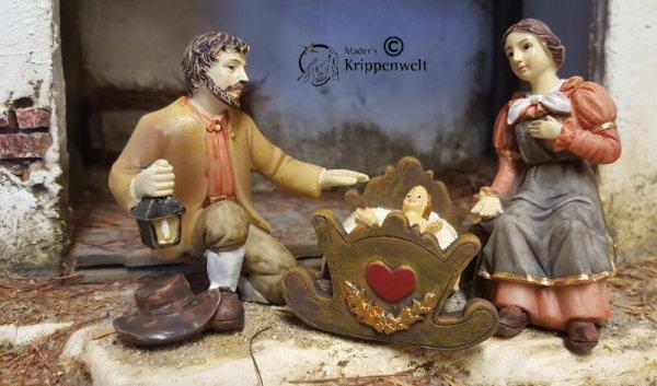 die heilige Familie als Krippenfiguren aus Kunstharz