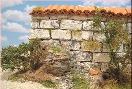 Mauersteine für den Krippenbau