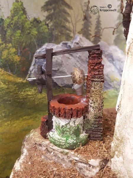 Brunnen mit  Eimer für den Krippenbau