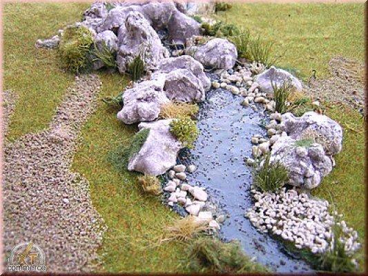 Krippenbaumaterial Felsenstücke aus Gips