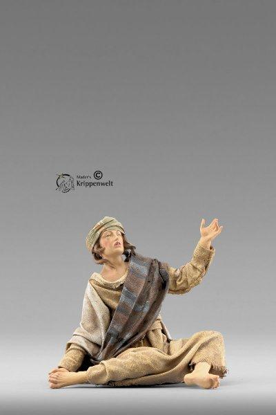 Hirte sitzend als Krippenfigur von der Immanuel Krippe von Heide