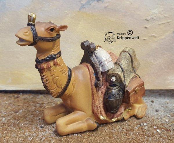 liegendes Kamel als Krippenfigur aus Polystone
