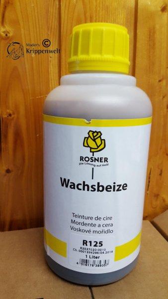 1 Liter Kunststoffflasche der Wachsbeize Rosner 125