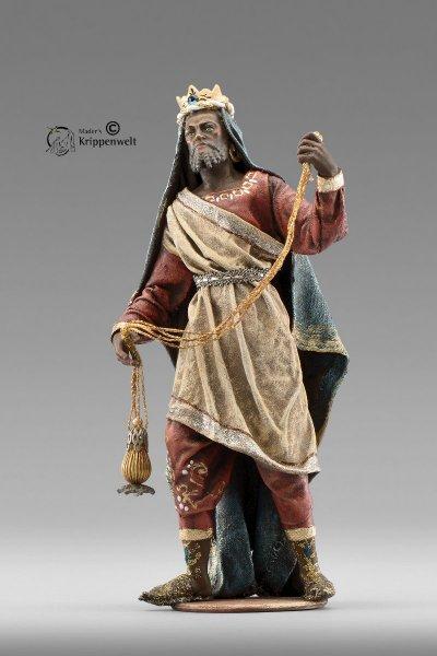 der Mohr als heiliger König als Krippenfigur von der Immanuel Krippe