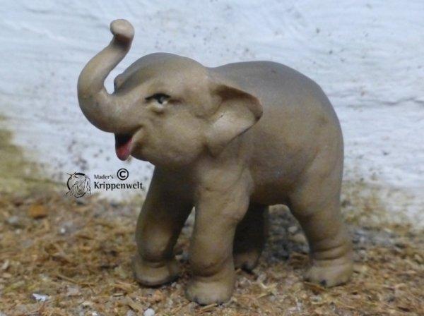 Krippenfigur aus Polystone - Elefant klein