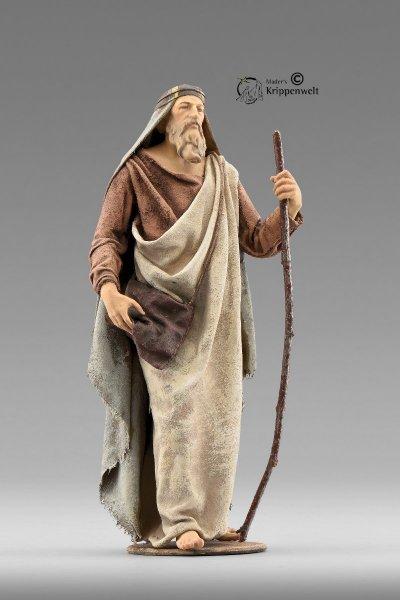 Hirte mit Stock als Krippenfigur von der Immanuel Krippe