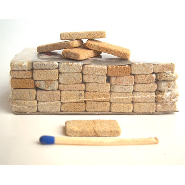 Sandsteinplättchen für den Krippenbau