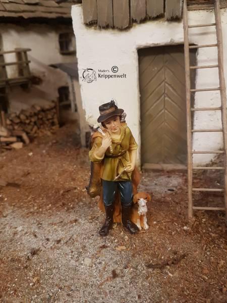 Jäger mit Hund und Beute