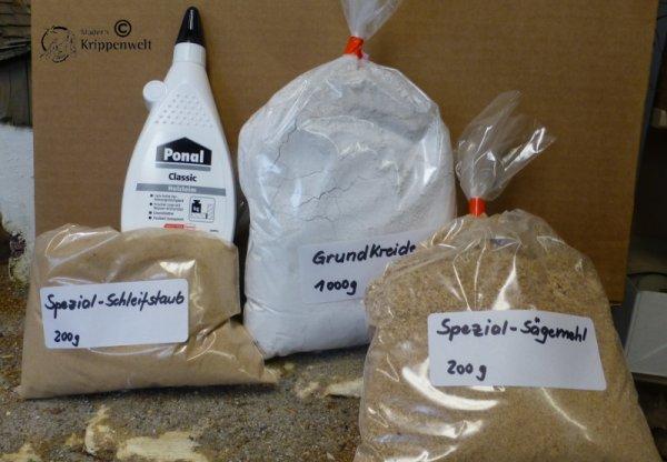 Krippenmörtel-Herstellungs-Set für den Krippenbau