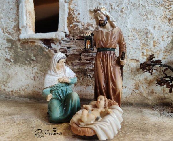 Krippenfiguren aus Kunstharz die heilige Familie