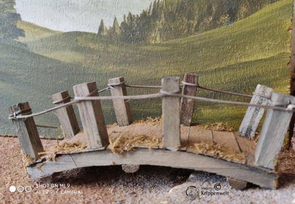 Brücke aus Holz als Krippenzubehör