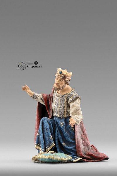 kniender weißer heilige König als Krippenfigur von der Immanuel Krippe