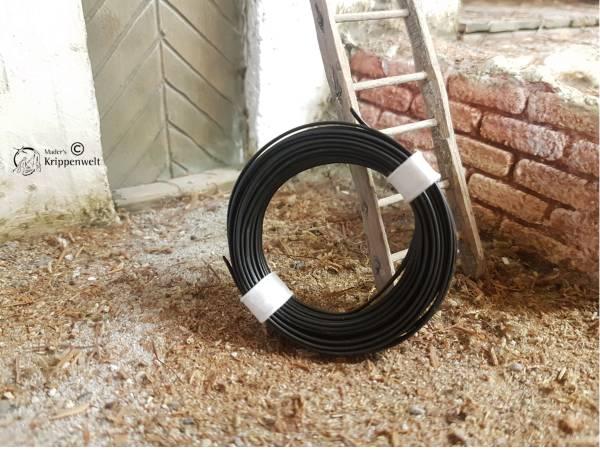 5m Kunststofflitze 2 - adrig, schwarz