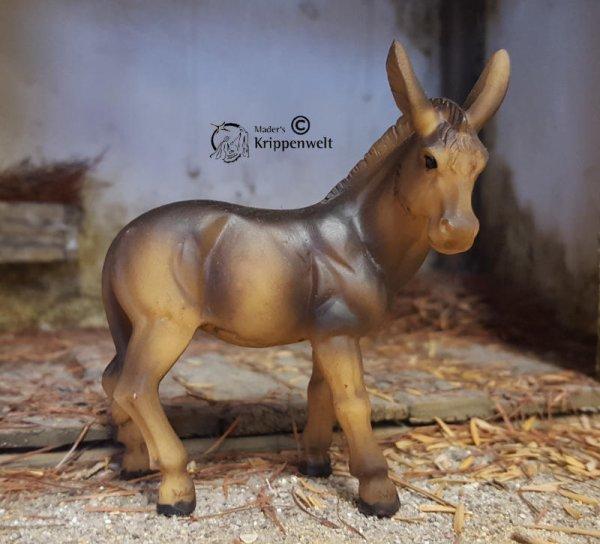 Esel stehend als Krippenfigur aus Kunstharz
