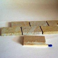 Sandsteinplatten für den Krippenbau