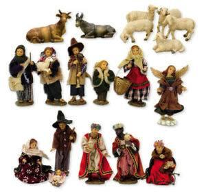 bekleidete Krippenfiguren aus Polystone