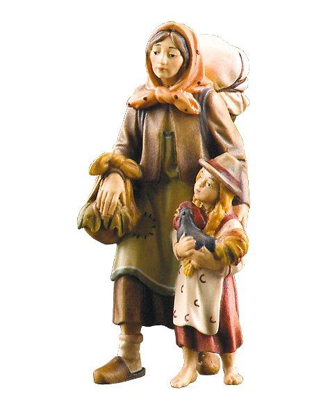 geschnitzte Krippenfiguren von Lepi aus dem Grödnertal