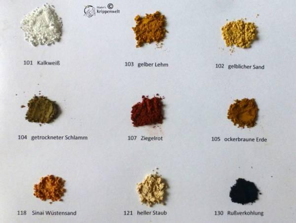 Farben - Set Pulverfarben für orientalische Krippen 9 x 30ml